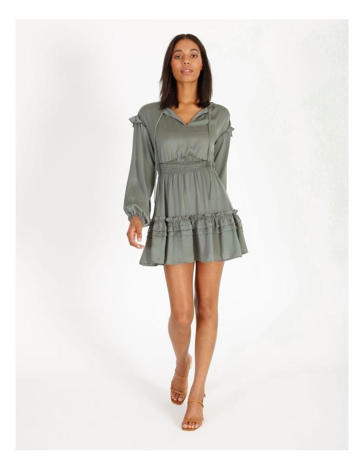 V-Neck Ruffle Skirt Boho Dress image 1