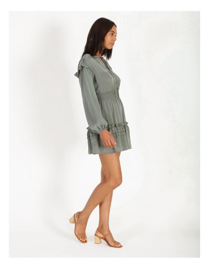 V-Neck Ruffle Skirt Boho Dress image 2