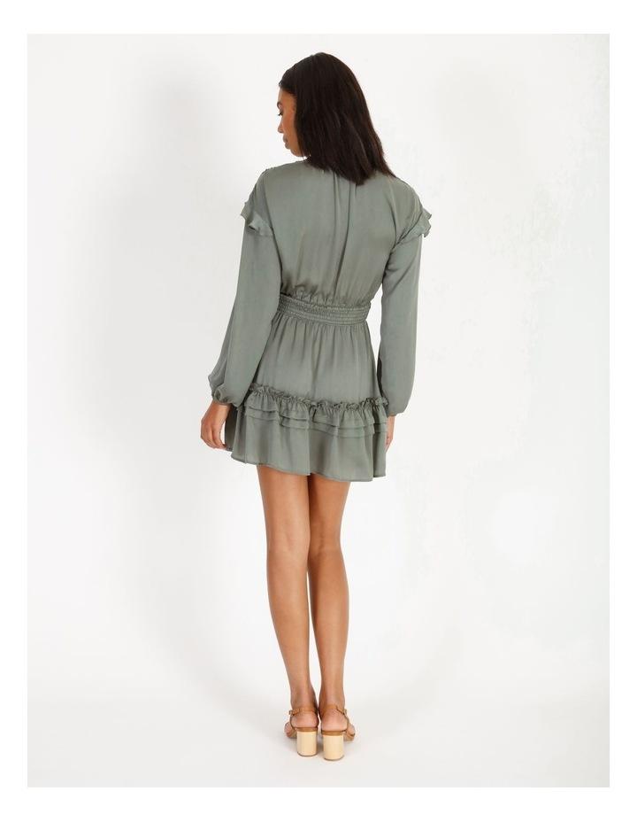 V-Neck Ruffle Skirt Boho Dress image 3