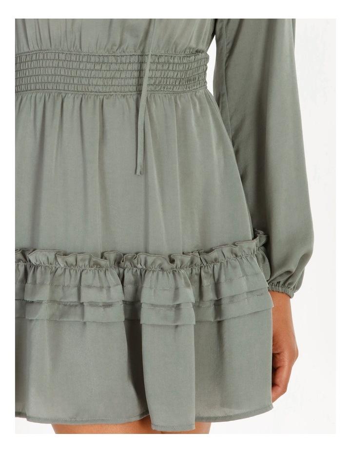 V-Neck Ruffle Skirt Boho Dress image 4