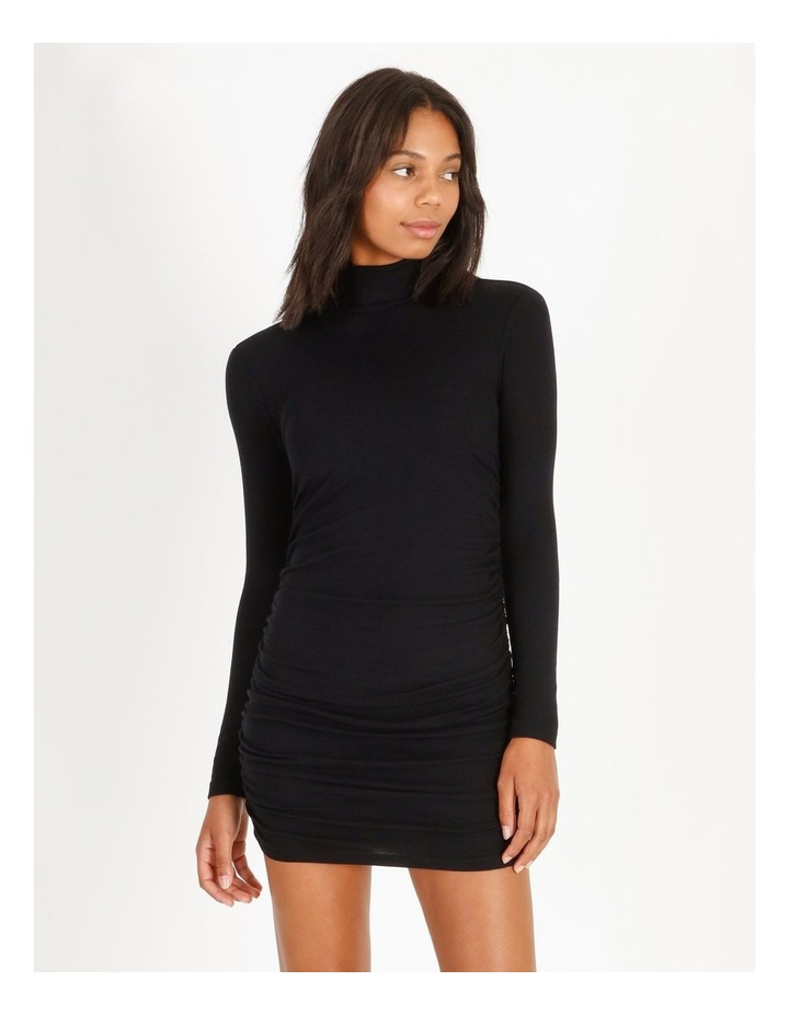 Roll-Neck Rib Dress image 1