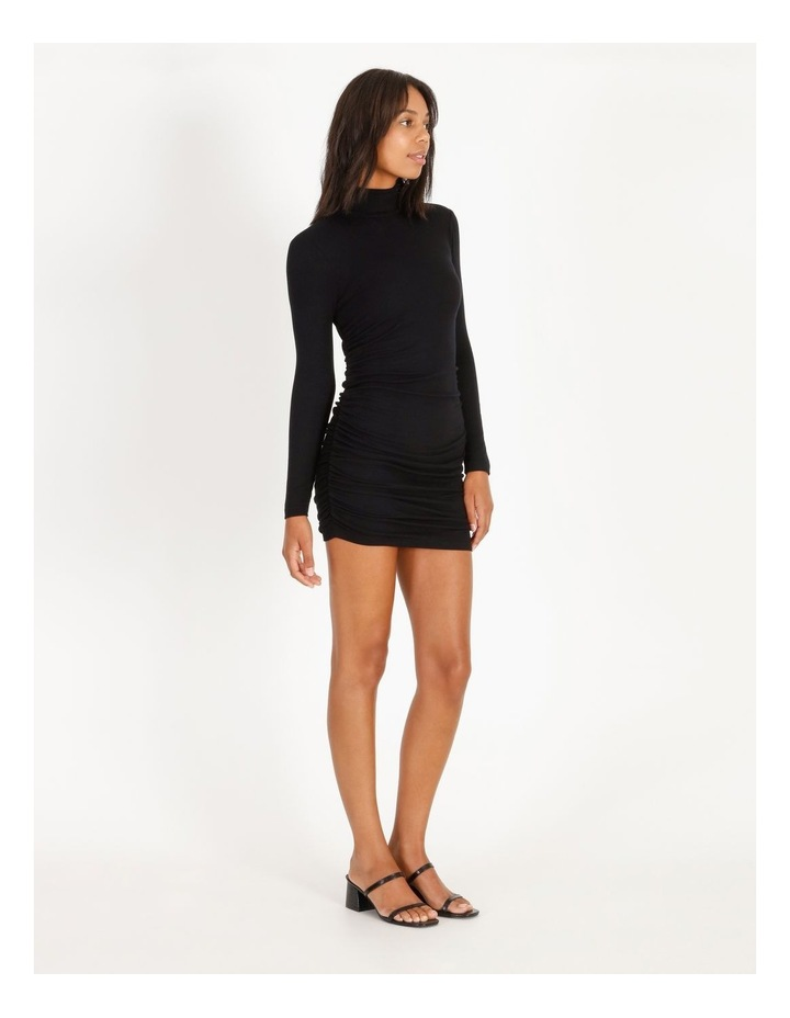 Roll-Neck Rib Dress image 3