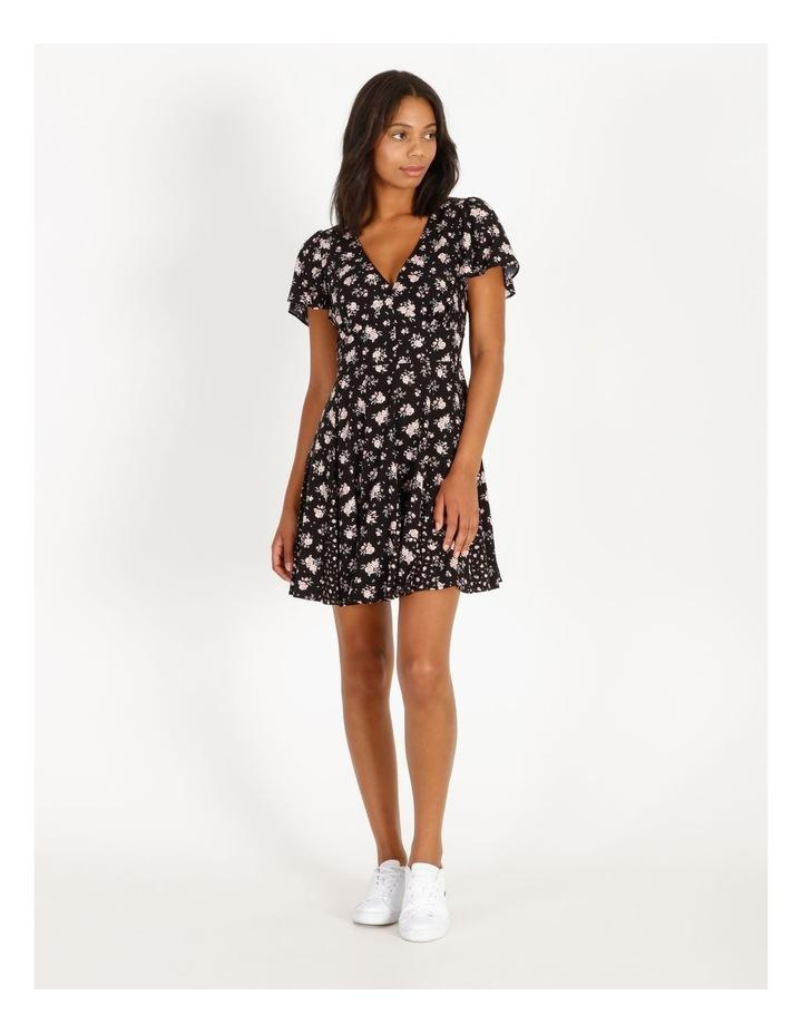 Godet Floral Print Skirt Dress image 1