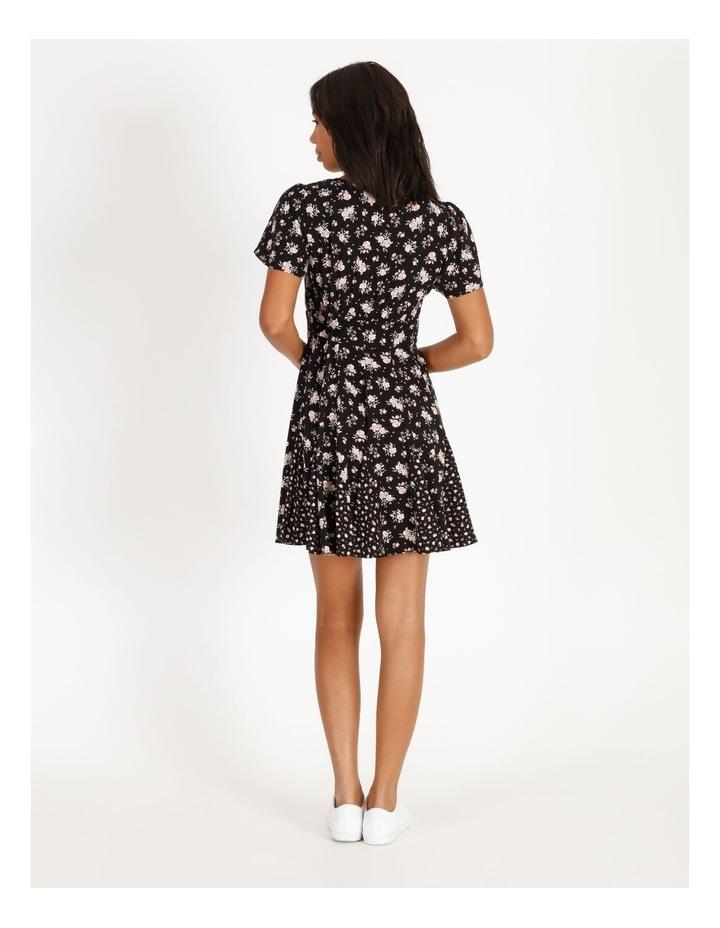 Godet Floral Print Skirt Dress image 3