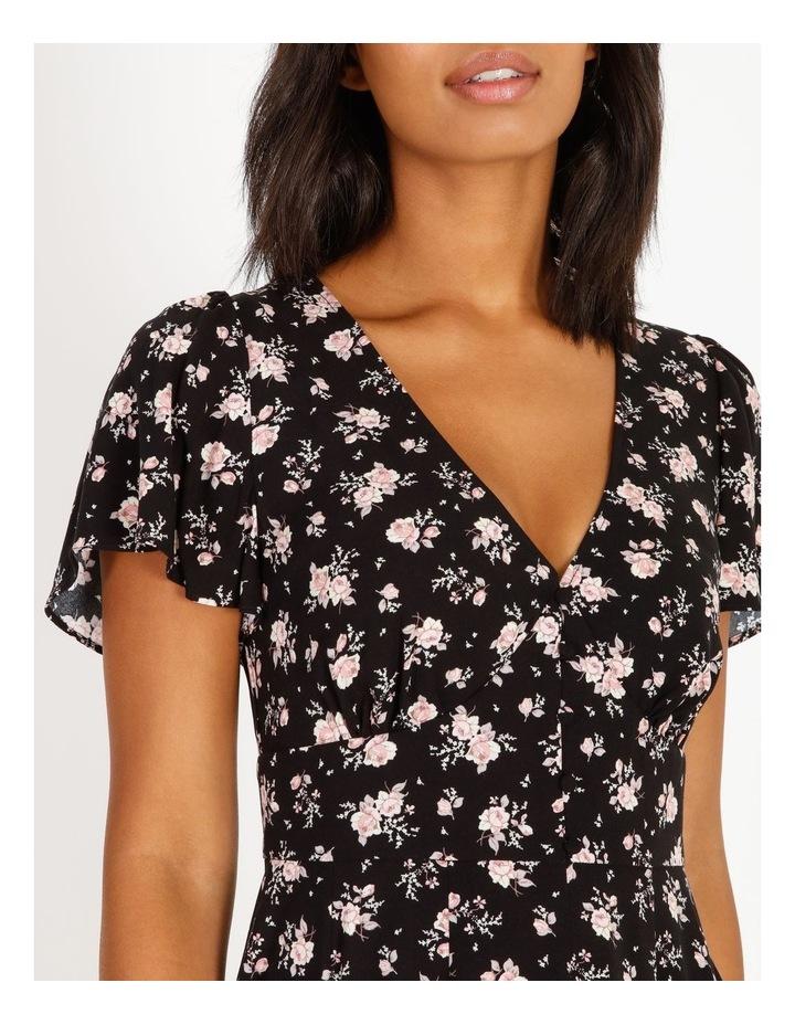 Godet Floral Print Skirt Dress image 4