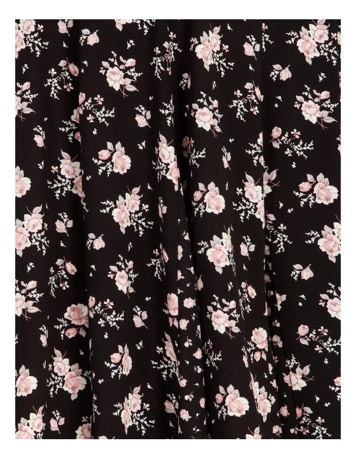 Godet Floral Print Skirt Dress image 5