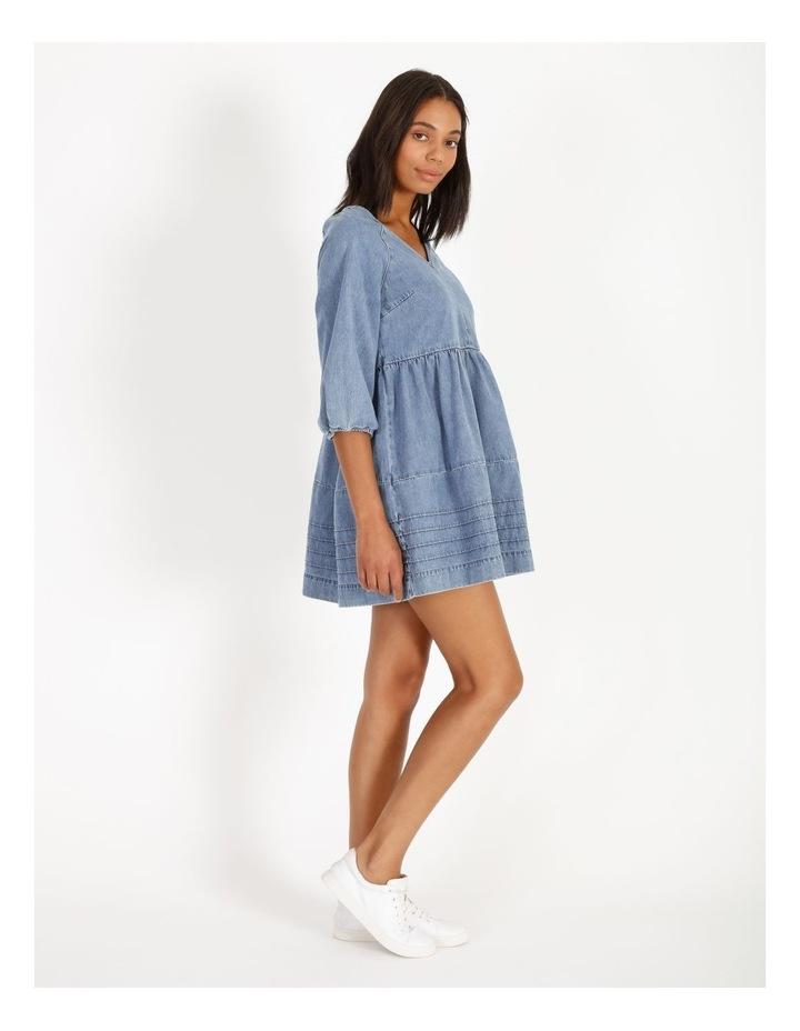 Denim V-Neck Dress image 2