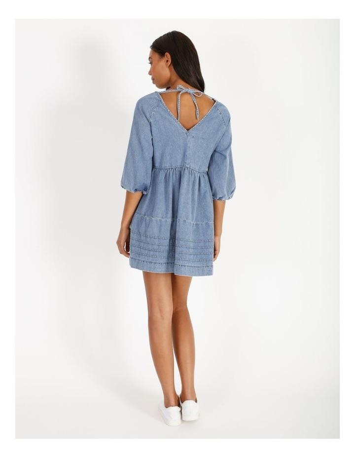 Denim V-Neck Dress image 3