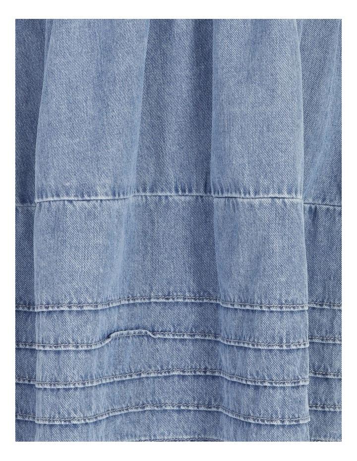 Denim V-Neck Dress image 5