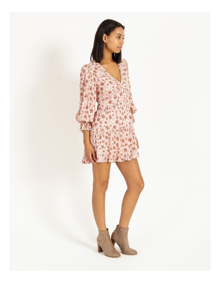 Ruffled Trim Blouson Sleeve Dress image 2