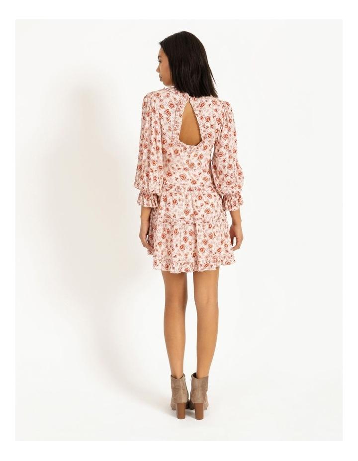 Ruffled Trim Blouson Sleeve Dress image 3