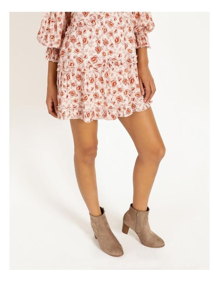 Ruffled Trim Blouson Sleeve Dress image 4