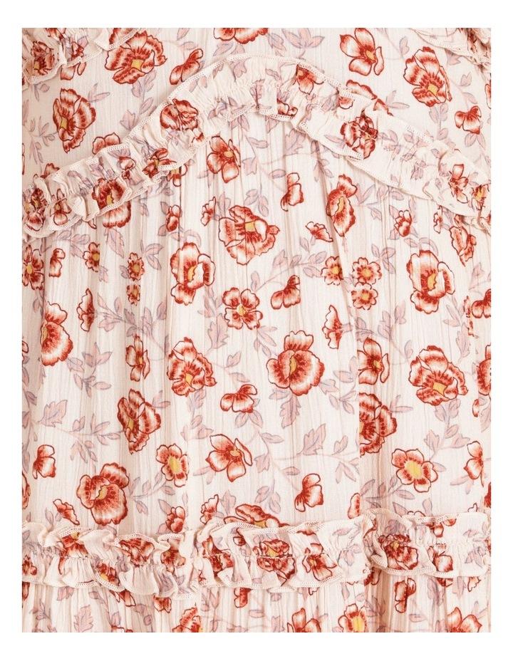 Ruffled Trim Blouson Sleeve Dress image 5