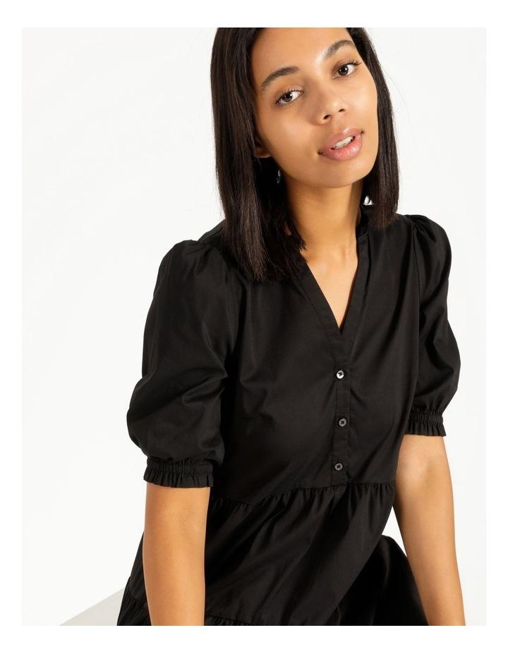 3/4 Sleeve Tiered Shirt Dress image 2