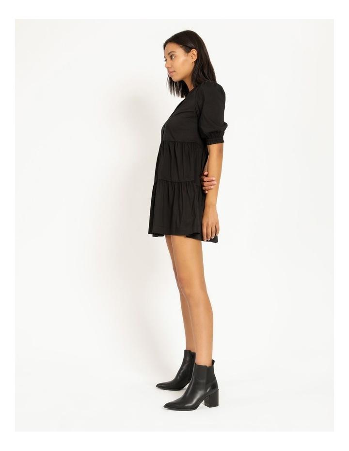 3/4 Sleeve Tiered Shirt Dress image 3