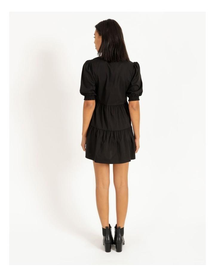3/4 Sleeve Tiered Shirt Dress image 4