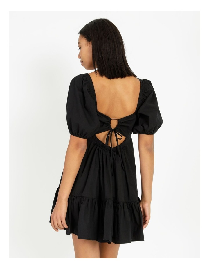 Back Detail Puff Sleeve Dress image 2