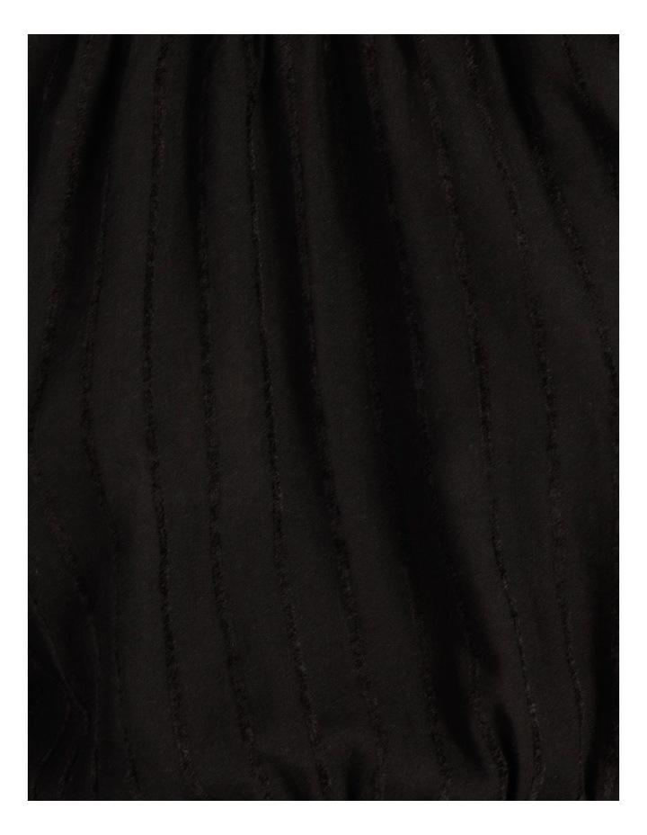 Self Stripe Ruffle Hem Dress Black image 7