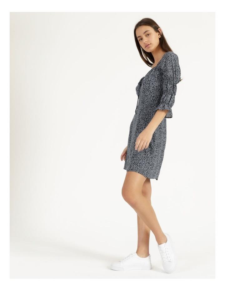 Sweetheart Bodice Blue/White Ditsy Mini Dress image 4