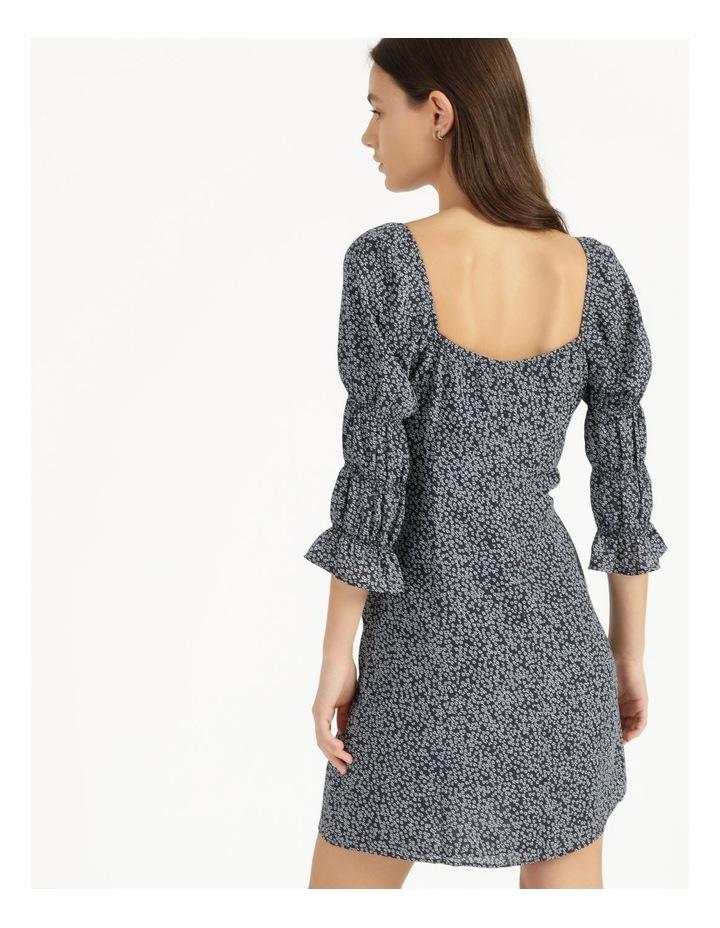 Sweetheart Bodice Blue/White Ditsy Mini Dress image 5