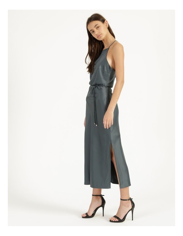 Halter Neck Slip Dress Green image 4