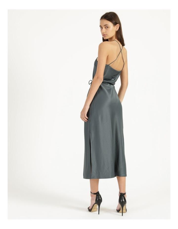 Halter Neck Slip Dress Green image 5