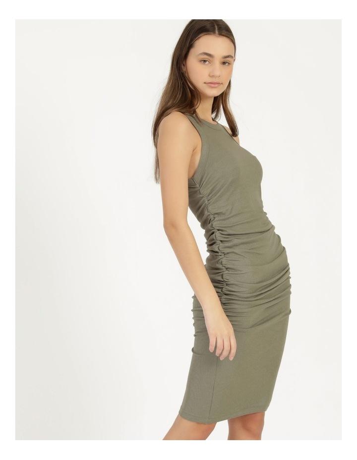 Ruched Midi Dress image 2