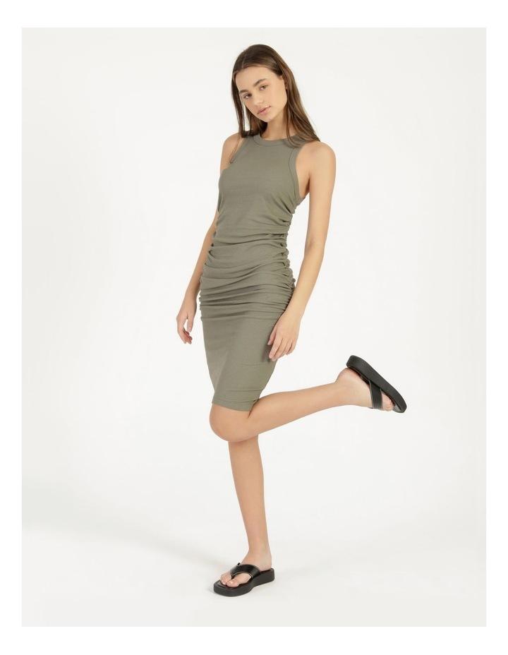 Ruched Midi Dress image 3