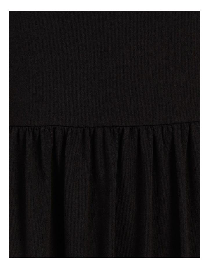 Tiered Scoop Neck Midi Dress Black image 7