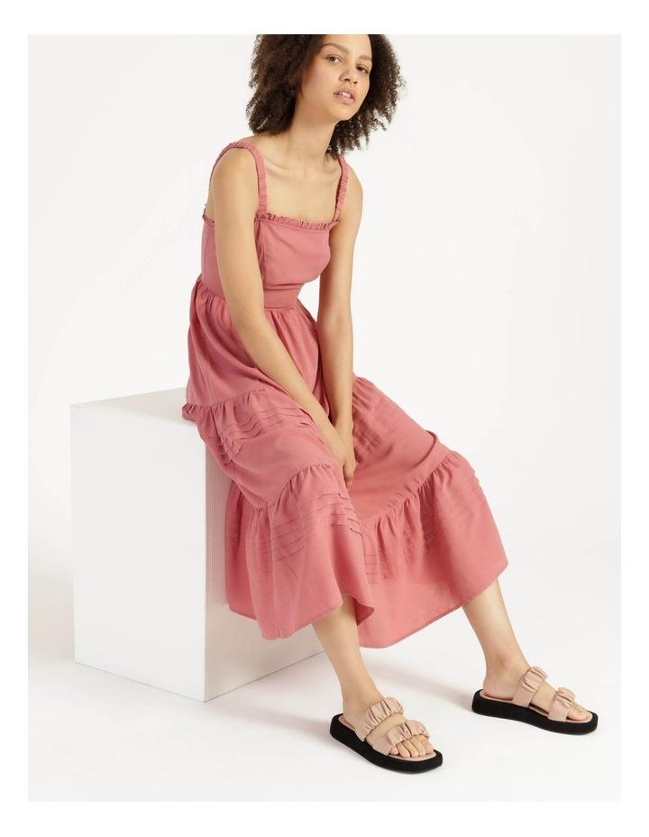 Tiered Midi Dress Dusty Rose image 1