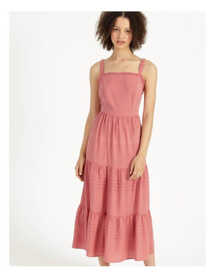 Tiered Midi Dress Dusty Rose image 2