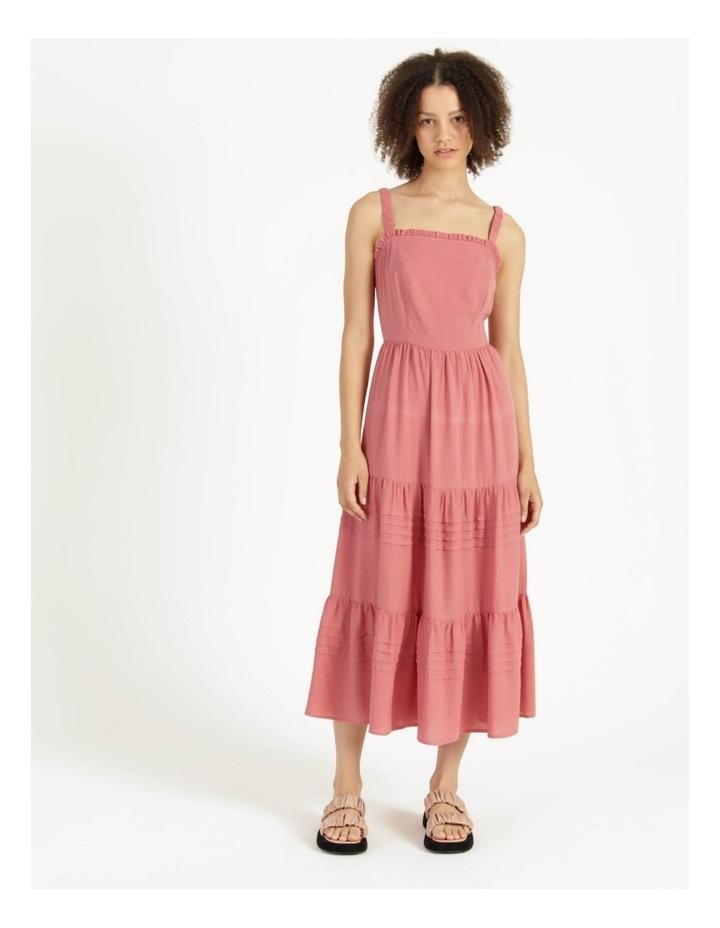 Tiered Midi Dress Dusty Rose image 3