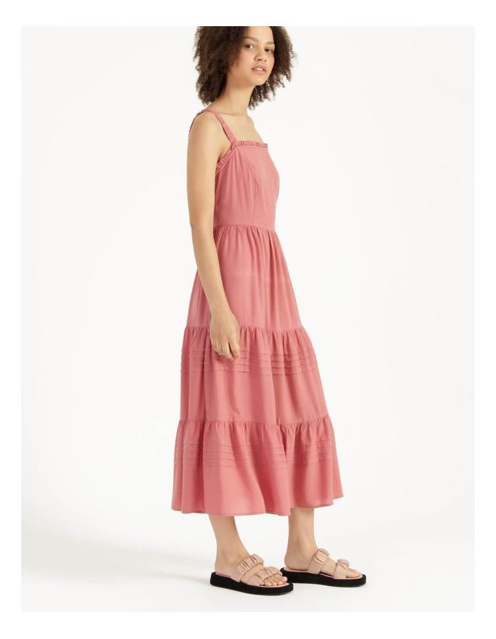 Tiered Midi Dress Dusty Rose image 4