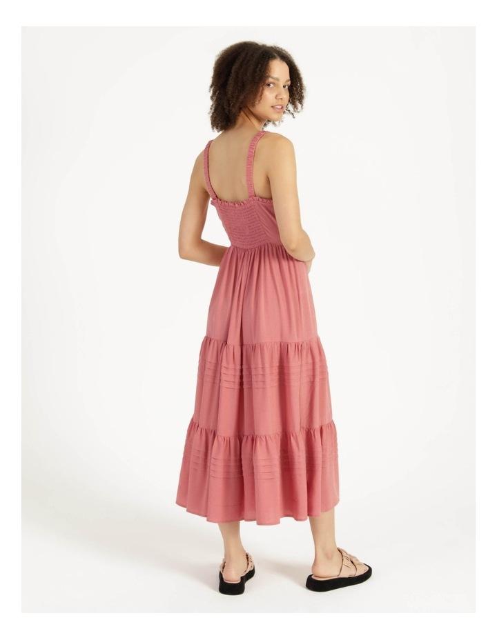 Tiered Midi Dress Dusty Rose image 5