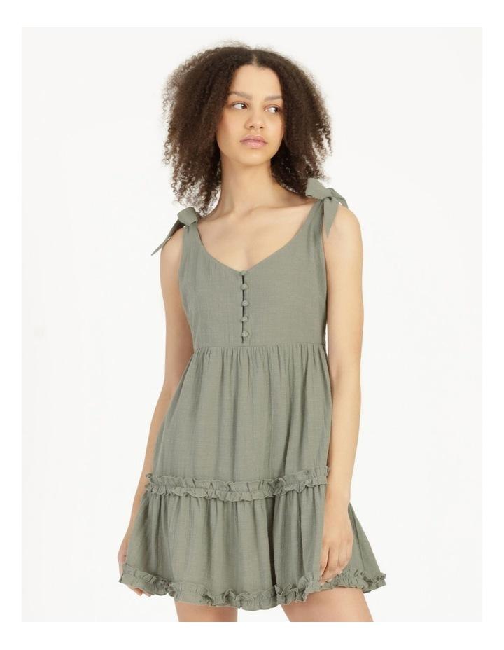 Textured Cotton Ruffle Dress image 1