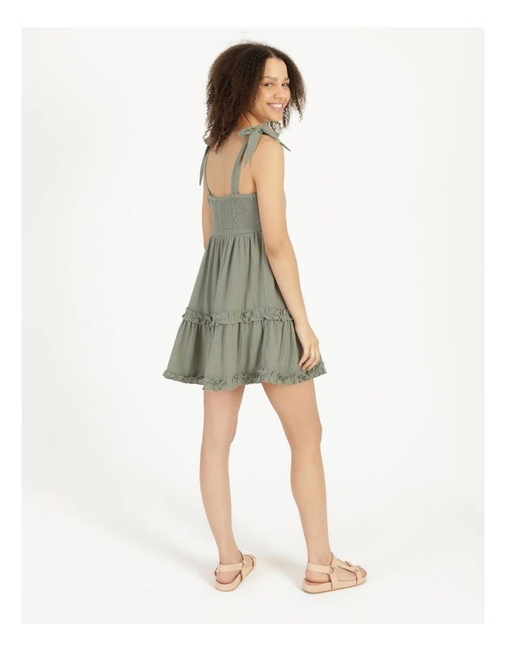 Textured Cotton Ruffle Dress image 2