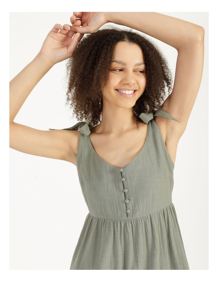 Textured Cotton Ruffle Dress image 3