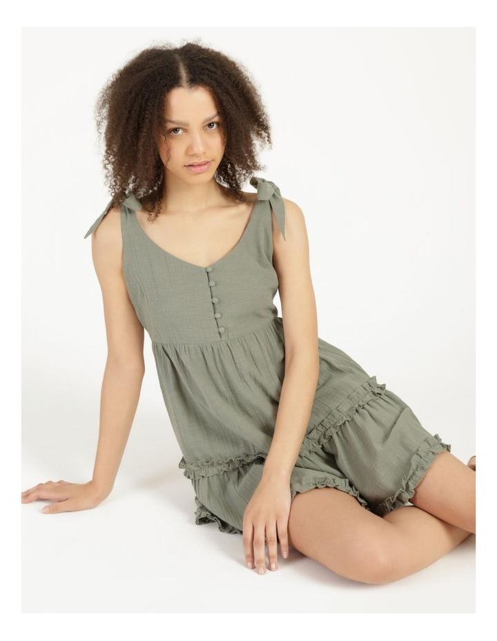 Textured Cotton Ruffle Dress image 4