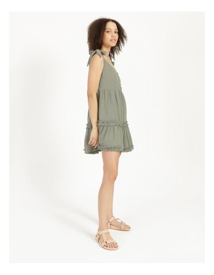 Textured Cotton Ruffle Dress image 5