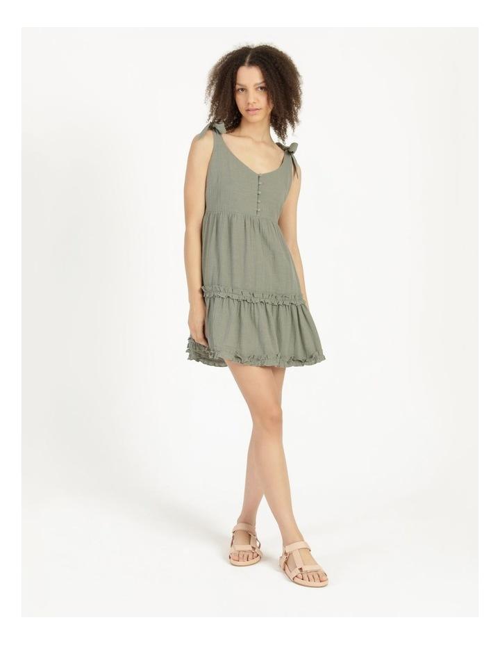 Textured Cotton Ruffle Dress image 6