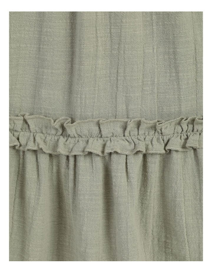 Textured Cotton Ruffle Dress image 7