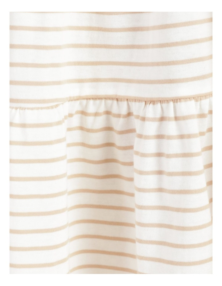 Baby Doll Tiered Tee Dress Off White image 7