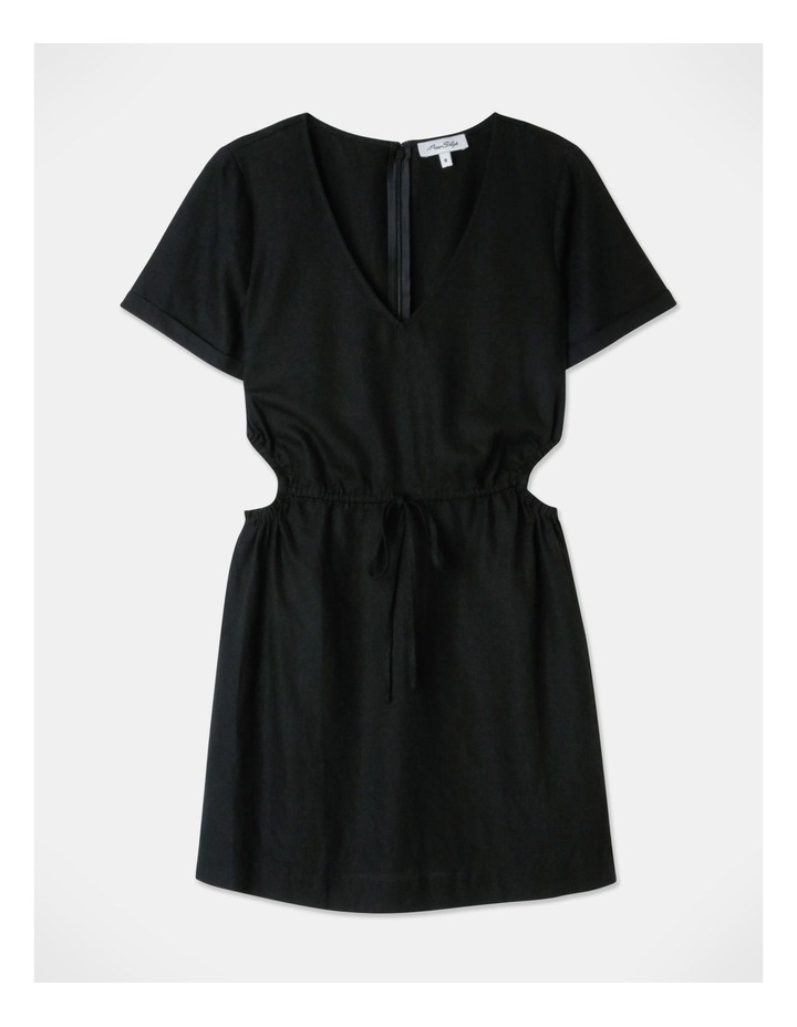 Cut Out Side Mini Dress Black image 1