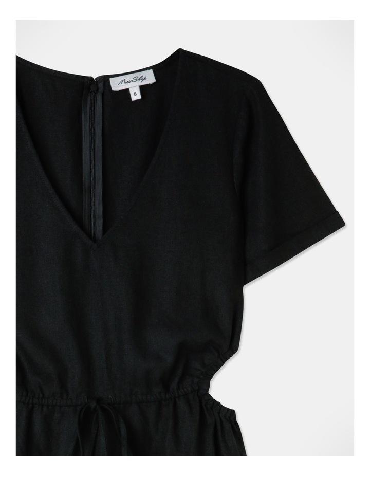 Cut Out Side Mini Dress Black image 2