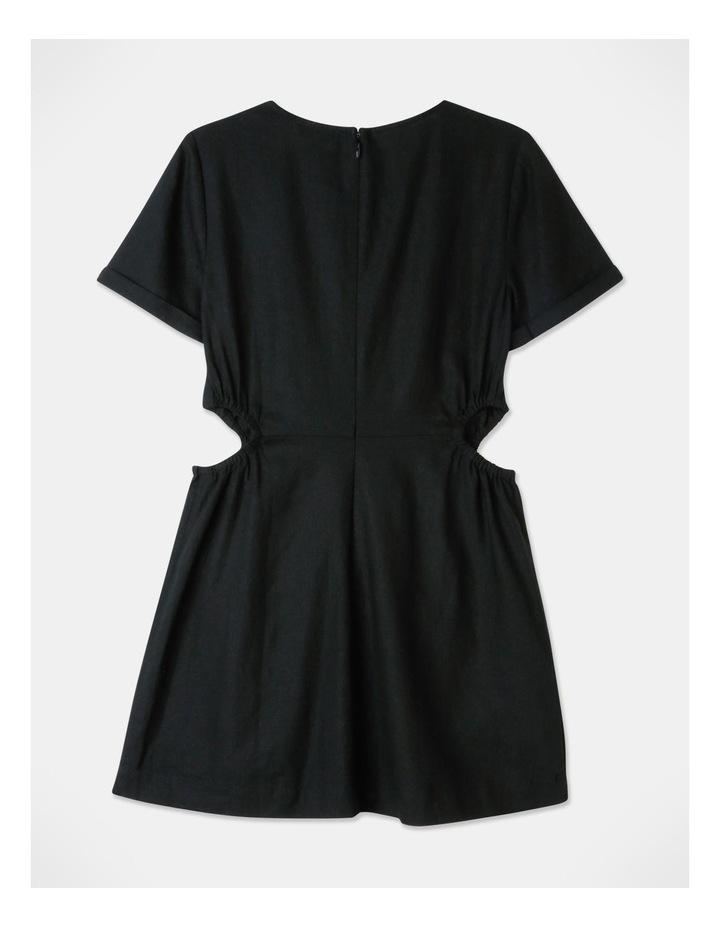 Cut Out Side Mini Dress Black image 3
