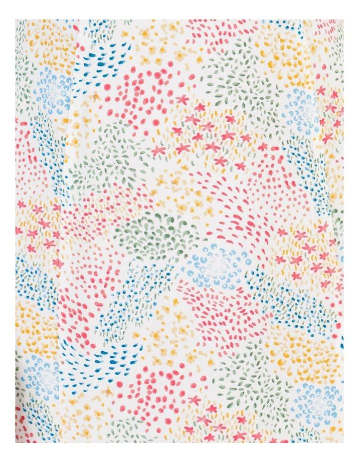 Corset Detail Ruffle Strap Midi Dress Floral Reef Print image 7