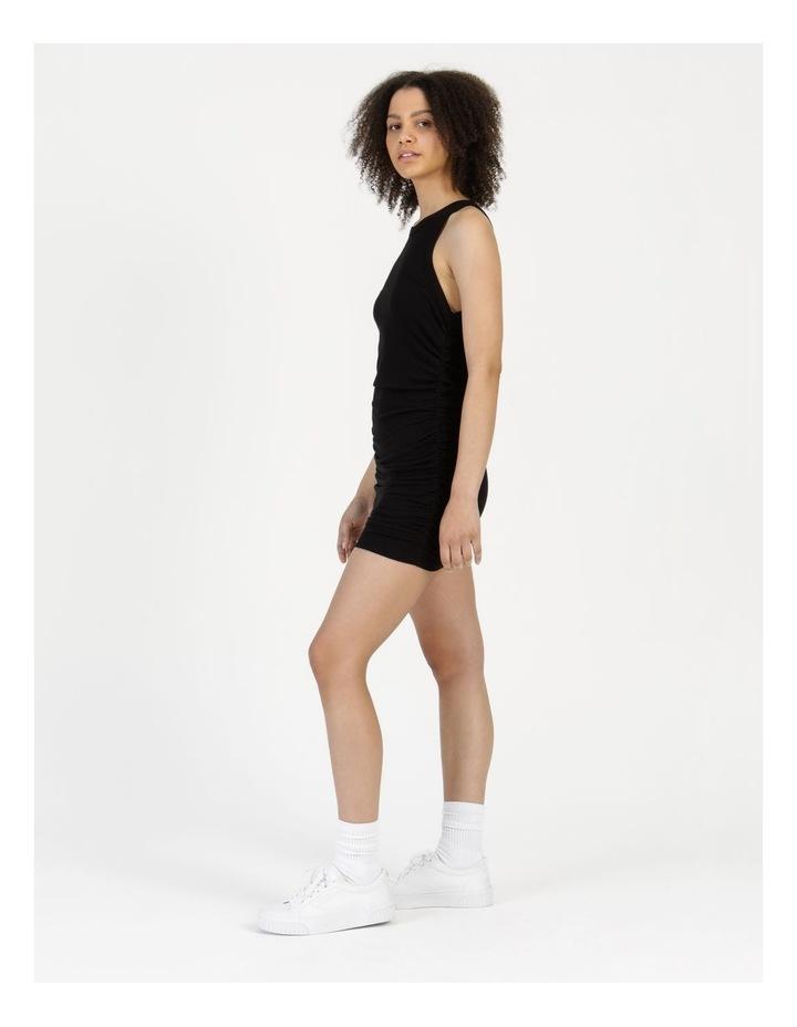 Ruched Mini Dress Black image 4
