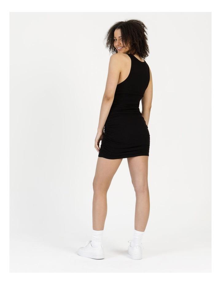 Ruched Mini Dress Black image 5