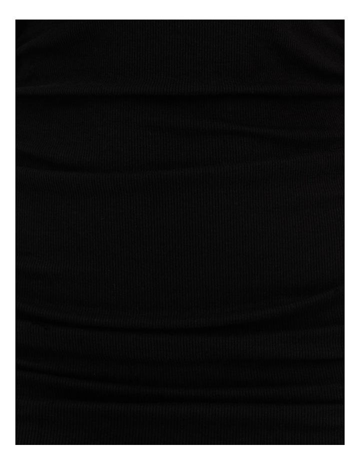 Ruched Mini Dress Black image 7