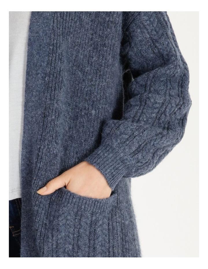 Cable Sleeve Longline Cardigan image 4